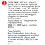 Astra Motor Kalbar Ajak Konsumen Honda CBR250RR Touring Di Bali