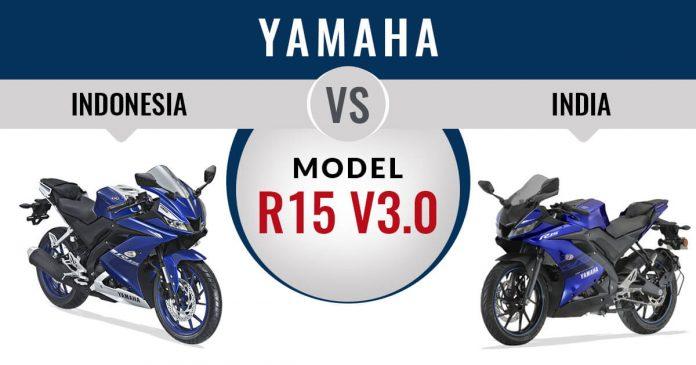 Perbedaan Yamaha R15 Indonesia dan India