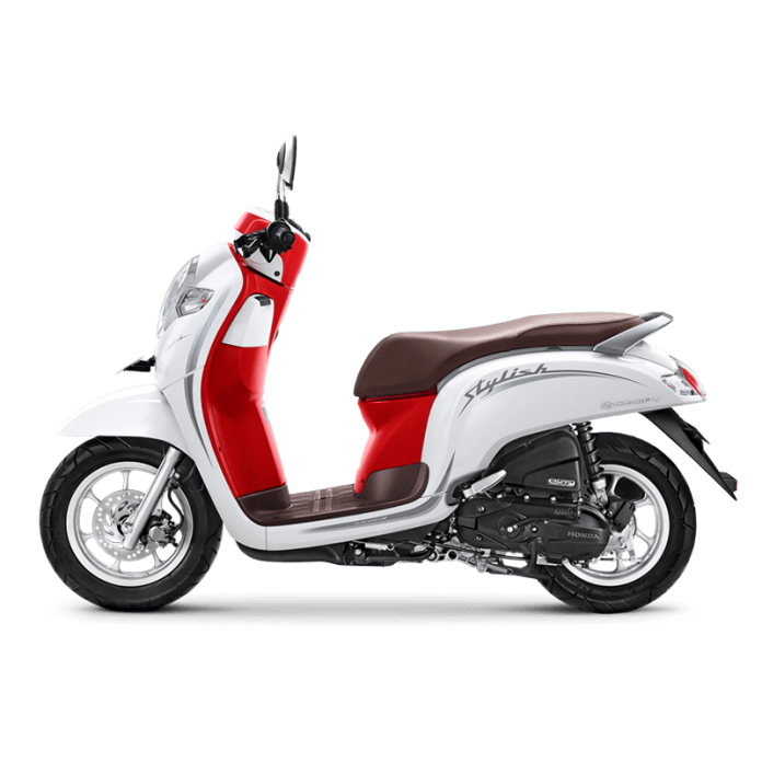 Honda Scoopy Stylish White Red