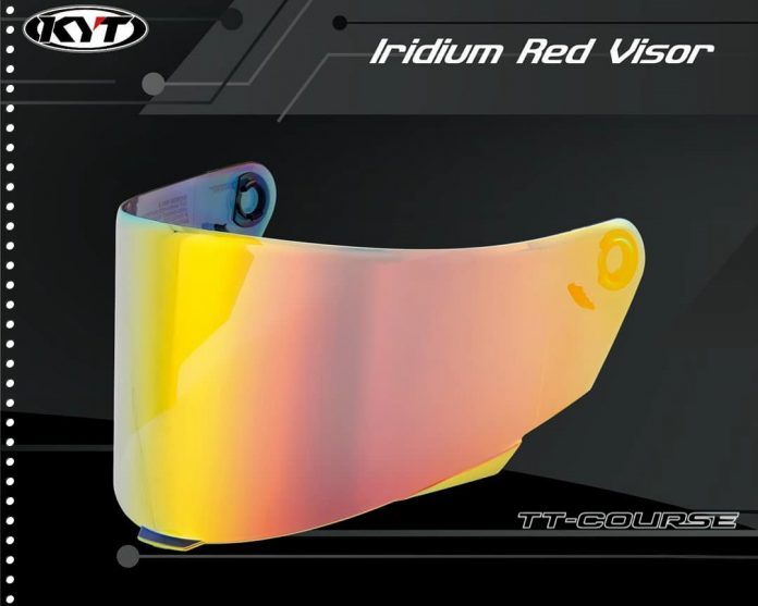 Harga Flat Visor KYT TT Course Iridium Red